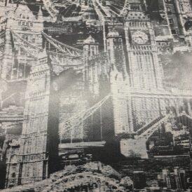 LONDON THEME GRAY 100% VISCOSE