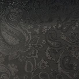 BLACK JACQUARD VISCOSE 50% ACETATE 50%