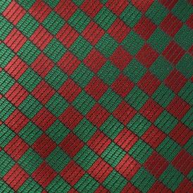 RED/GREEN DIAMONDS VISCOSE 69% ACETATE 31%