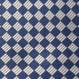 SILVER/BLUE DIAMONDS VISCOSE 69% ACETATE 31%