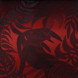 RED/BLACK PANTHER VISCOSE 63% ACETATE 37%