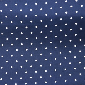 FRENCH BLUE SMALL WHITE SPOT VISCOSE 100%