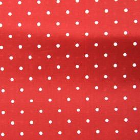 RED SMALL WHITE SPOT VISCOSE 100%